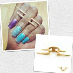 OMEGA RING...Can be worn as a ring or a midi ring. Get yours in gold or silver on www.fabfrosting.com. #putaringonit