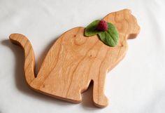 Cat Home Decor Cat Cutting board Animal Shaped by jobemacstudios