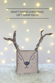 5 creative ways to wrap gifts using just brown Kraft paper and a black Sharpie