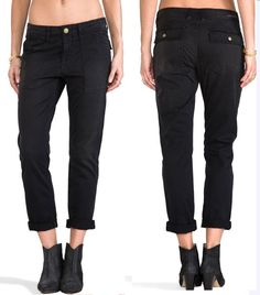 f67b72fcd8ab Current   Elliott Women s The Army Buddy Cotton Trousers Vintage Black 28   218
