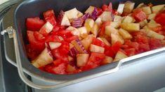 Pisto en panificadora Sin Gluten, Fruit Salad, Menu, Ethnic Recipes, Cooking, Quiches, Queso, Mexican, Gastronomia