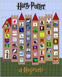 Harry Potter at Hogwarts - Castle Quilt - Foundation pieced. Awesome!