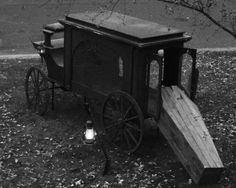 Old hearse & coffin