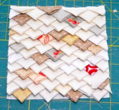 Block 25: Echidna block – Textured quilt sampler   Sewn Up by TeresaDownUnder