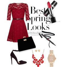 Spring red look by flaminia-genualdo on Polyvore featuring polyvore, moda, style, Yumi, ASOS, Forever New, Michael Kors, Kate Spade, Style & Co., H&M and avonmakeup