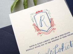 How to Add Personal Details to Wedding Invitations / Puppy Love / Bright Room Studio for Oh So Beautiful Paper