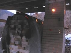 Firing up the wood kiln ~ Photo by...Joy Tanner Pottery and Inspirations.