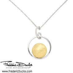 Frederic Duclos Sterling Silver Gold plated Sun Necklace,  Find this and more at Skatell's Jewelers, http://www.skatellsjewelers.com #skatellsjewelers #fredericduclos #earrings