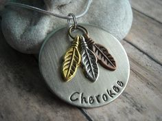 Indian Tribe Cherokee Arapaho Dakota Sioux  by UniquelyImpressed, $20.00  I want this necklace!