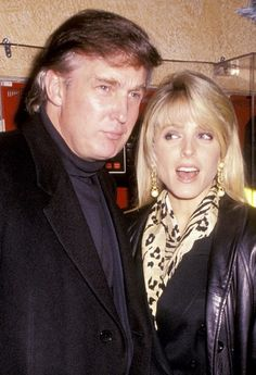 Donald Trump and Marla Maples in 1991.