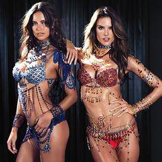Alessandra Ambrosio & Adriana Lima to wear fantasy bra's in Victoria Secret's fashion show.