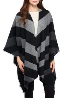 Eileen Fisher Poncho - Ash - One Size