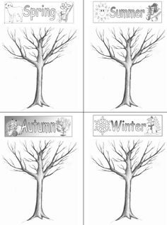 I am planning on teaching a lesson for a 1st grade classroom tomorrow and whipped up this worksheet. Im planning on having the kids color and cut out objects to put on the trees, corresponding to each season. I may also talk about the life cycle of the tree a bit. Im planning on having the tree be an