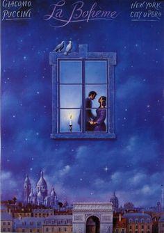 La Boheme - Giacomo Puccini Original Polish opera poster designer: Rafal Olbinski year: 1995