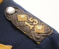 Close up of the left shoulder epaulette on Rear view of an imperial German Prussian 15th Ulan Regiment Colonel's uniform tunic, circa 1910.