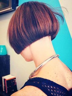 Copper Layered Bob with Bangs - 50 Classy Short Bob Haircuts and Hairstyles with Bangs - The Trending Hairstyle Graduated Bob Haircuts, Cute Bob Haircuts, Edgy Haircuts, Short Bob Hairstyles, Hairstyles With Bangs, Shaved Bob, Shaved Nape, Short Hair Cuts, Short Hair Styles
