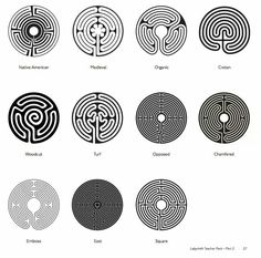 Classification system of labyrinths for  London Art of the Underground, cool!