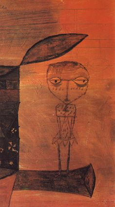 1930 Paul Klee 'The Spirit on the Tree Trunk' (Der Geist auf dem Stiel). Klimt, Abstract Expressionism, Abstract Art, Paul Klee Art, Illustration Art, Illustrations, Robert Rauschenberg, Les Religions, Edward Hopper