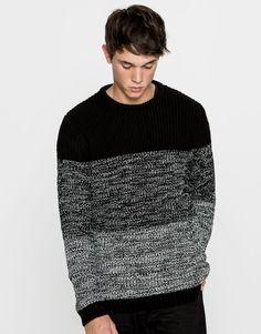 Jersey cuello redondo degradado - Punto - Ropa - Hombre - PULL&BEAR España