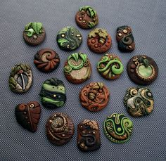 Large Group of Woodland Cabochons by *MandarinMoon on deviantART
