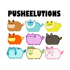 Pusheelutions (Pusheen Eeveelutions) Variation 2