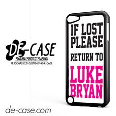 Luke Bryan Quotes DEAL-6733 Apple Phonecase Cover For Ipod Touch 5
