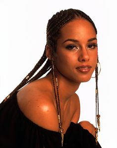 Alicia Keys bead Hair | Alicia Keys' Most Head-Turning Hairstyles Of All Time