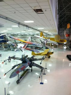 Hodge podgery of winged things at the Wings Over the Rockies museum in Denver.