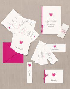 Fingerabdruck - Papeterie, Hochzeitspapeterie, Karten, Einladung, Kirchenheft, Danksagung, Save-the-Date, Menü, Programmheft, Hochzeitszeremonie