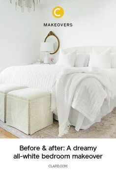 See how one interior designer created a bedroom oasis by adding textures and layers to a white bedroom.  #paintcolors #paint #paintideas #homeimprovement #homedecor #homedecorideas #diy #painting  #paintideas Best White Paint, White Paint Colors, Wall Paint Colors, Bedroom Paint Colors, White Paints, White Bedroom Decor, Pillow Texture, Master Bedroom Makeover, Shared Bedrooms