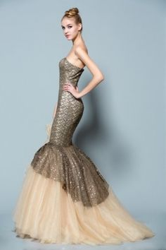 Flared evening dresses