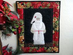 Santa wall hanging Santa Claus wall quilt by SusansPassion on Etsy