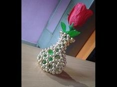 Hello Everyone, Here is a new design for Pearl Beaded Flower Pot for beginners. I have shown step by step flower pot making. Beaded Crafts, Beaded Ornaments, Beading Tutorials, Beading Patterns, Flower Vases, Flower Pots, Creative Crafts, Diy And Crafts, Flower Crafts