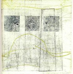 monoprint -by Angelika Pilz Space Series, Engraving Printing, Collagraph, White Space, Print Artist, Printmaking, Hand Drawn, Contemporary Art, How To Draw Hands