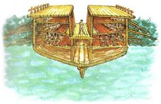 Cross-section of a Greek Trireme.