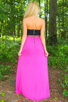 On The Riviera Maxi Dress-Magenta - $54.00