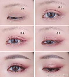 Korean Makeup Tutorial - Feminine Hanbok Makeup by Heizle - Korean Makeup Korean Makeup Look, Korean Makeup Tips, Asian Eye Makeup, Eye Makeup Art, Face Makeup, Korean Makeup Tutorial Natural, Make Up Tutorial Contouring, Kawaii Makeup Tutorial, Ulzzang Makeup Tutorial