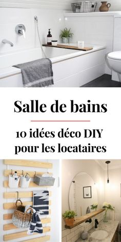 10 DIY Ideas to Decorate & Furnish the Bathroom When You Are a Tenant - Modern Home Decor Wall Art, Diy Home Decor, Room Decor, Diy Bathroom, Bathroom Ideas, Idee Diy, Creative Walls, Home Staging, Amazing Bathrooms