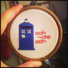 Mini Doctor Who cross stitch. @Susan Caron McWilliams do we have stuff for this?