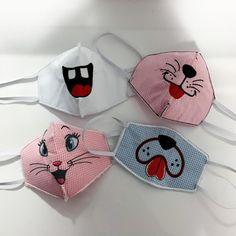 Face Masks For Kids, Easy Face Masks, Diy Face Mask, Mouth Mask Design, Fabric Paint Designs, Crochet Mask, Cat Pillow, Masks For Sale, Fashion Face Mask