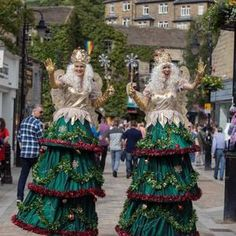 Christmas Tree Fairies for hire. Our Christmas Tree Fairy stilt walkers are available to book for corporate functions, Christmas-themed events or shopping centre events in the UK & London.