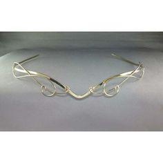 IN STOCK Travelers Circlet silver headpiece tiara crown wedding bridal... ($60) ❤ liked on Polyvore