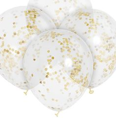 These gold confetti balloons are a must for modern gold bachelorette party decor