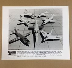 US Air Force Planes Jets Bell X-1A Press Photo Discovery Channel TV Show '90s #USAF #airplanes #military