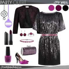 Pretty holiday party outfit for Deep Winter seasonal color women