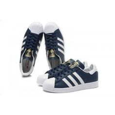 outlet store 2abf0 9a2ac Adidas Originals Superstar Foundation Herr Dam Skor Navy Vit B27163
