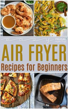 Easy Air Fryer Recipes for Beginners. Easy and Healthy Air Fryer Recipes for Families. Going a healthy direction for the new year ? Conveniently enjoy these healthy, crave-worthy, easy air fryer recipes for beginners. Air Fryer Oven Recipes, Air Frier Recipes, Air Fryer Dinner Recipes, Air Fryer Recipes Breakfast, Air Fryer Chicken Recipes, Power Air Fryer Recipes, Air Fryer Recipes Potatoes, Convection Oven Recipes, Air Fryer Recipes Vegetables