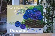 Come and join me as I show you how to Paint a Basket of Pansies on a 16 x 20 canvas. Great as a gift for your mom, grandma or even yourself!