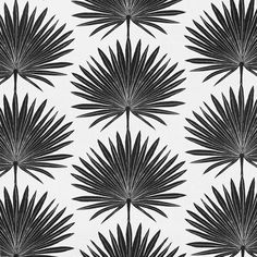 Clay McLaurin Studio Palmetto_Jet Wallpaper Formal Living Rooms, Bathroom Renovations, Fabric Design, Guest