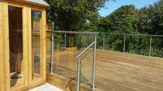 Decking balustrade design.